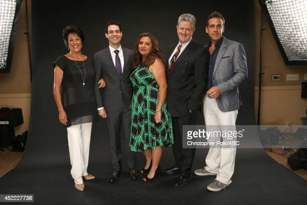ABC's 'Cristela' actors Terri Hoyos Andrew Leeds Cristela Alonzo Sam McMurray and Carlos Ponce pose for a portrait during ABC's 2014 TCA summer press...