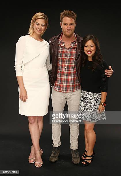 ABC's 'Manhattan Love Story' actors Analeigh Tipton Chloe Wepper and Jake McDorman pose for a portrait during ABC's 2014 TCA summer press tour at The...