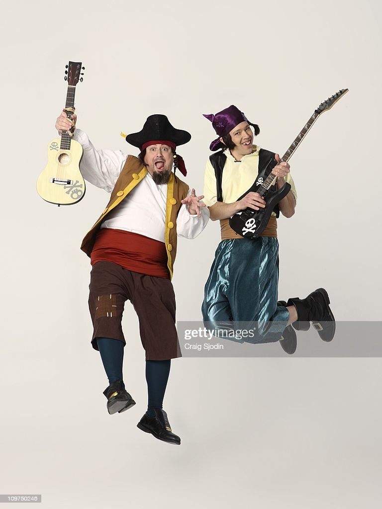 PIRATES - Disney Junior's The Never Land Pirate Band stars Loren Hoskins as Sharky and Kevin Hendrickson as Bones. (Photo by Craig Sjodin/Disney Channel via Getty Images))