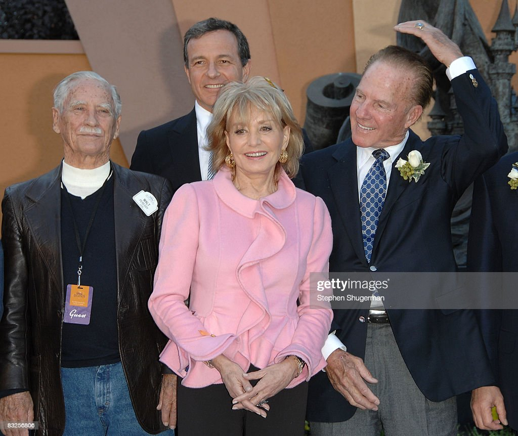 Disney Legend honoree Walt Peregoy, President of the Walt Disney Company Bob Iger, TV Host Barbara Walters and TV commentator Frank Gifford attend the 2008 Disney Legends Ceremony at the Walt Disney Studios on October 13, 2008 in Burbank, California.