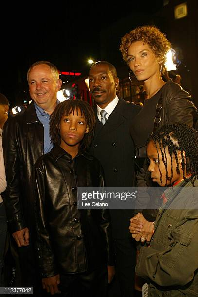 Disney Studios Chairman Dick Cook with Eddie Murphy and Murphy's family