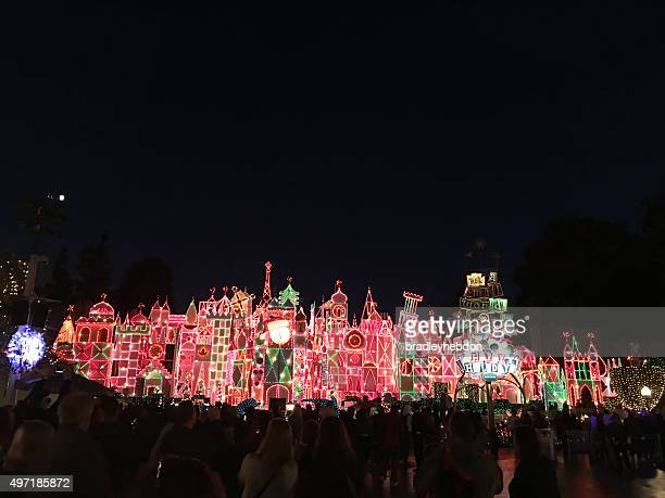Disneyland attraction, 'it's a Small World' lights up