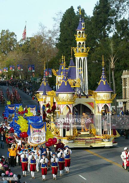 Disneyland Park's float 'The Happiest Celebration on Earth' rides in the 116th Tournament Of Roses Parade on January 1 2005 in Pasadena California