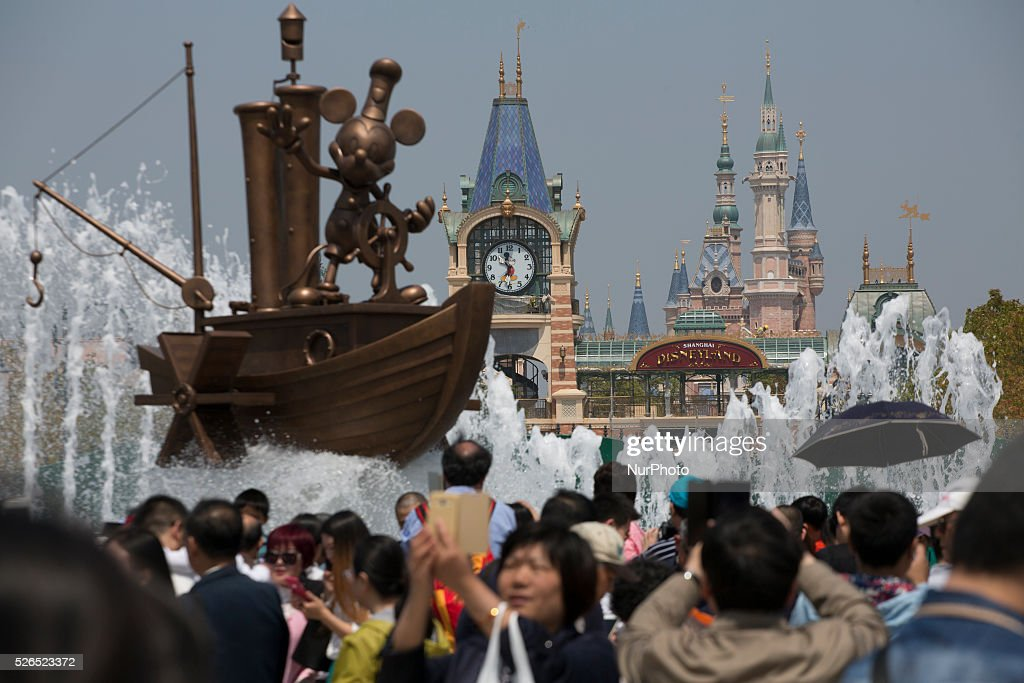 Disneyland Shanghai is seen in Pudong District in Shanghai, China, Apr. 30 2016. Disneyland Shanghai still under costruction and has planned to open on June 16, 2016.