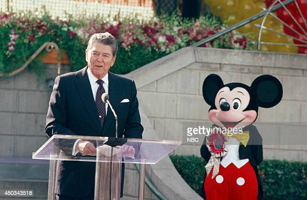 DISNEY 'Disneyland's 35th Anniversary Celebration' Episode 15 Pictured Ronald Reagan