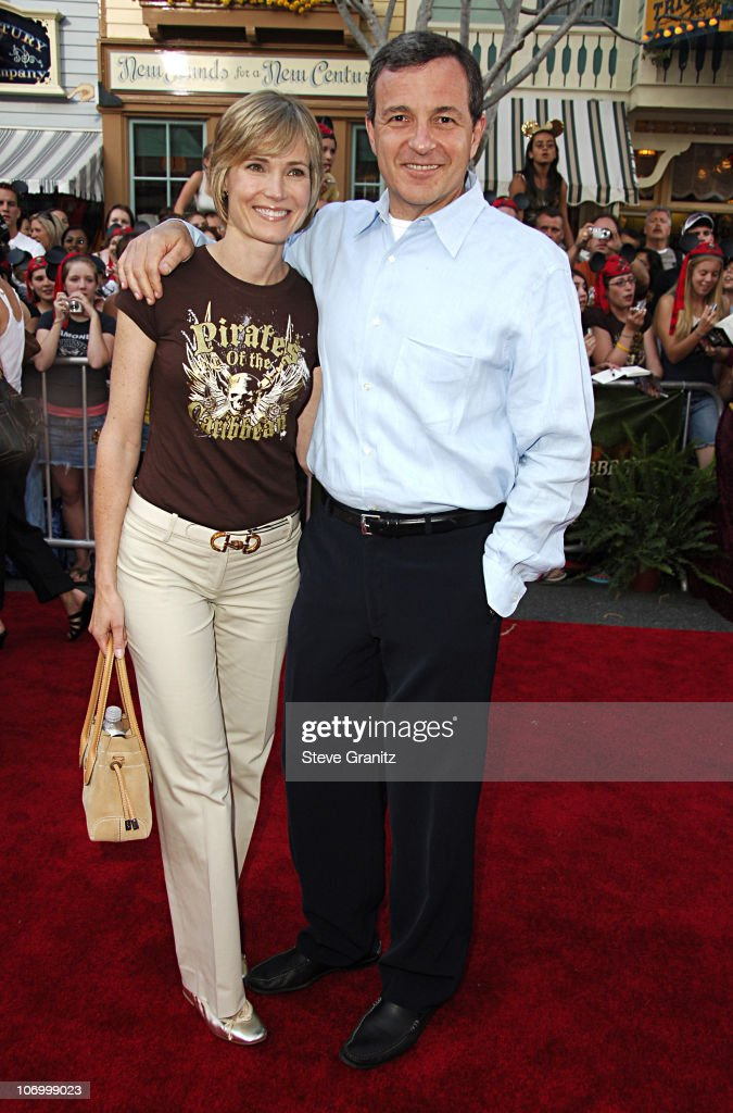 Disney's Bob Iger and Willow Bay during World Premiere of Walt Disney Pictures' 'Pirates of the Caribbean Dead Man's Chest' Arrivals at Disneyland in...