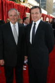 Disney's Richard Cook and Disney's Bob Iger during The World Premiere of Disney/Pixar's 'Ratatouille' at Kodak Theater in Hollywood Calfornia United...