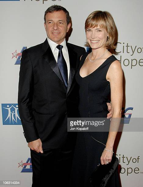 Disney's Robert Iger and wife news anchor Willow Bay arrive at the '2007 Spirit Of Life Awards' at Pacific Design Center on September 27 2007 in West...