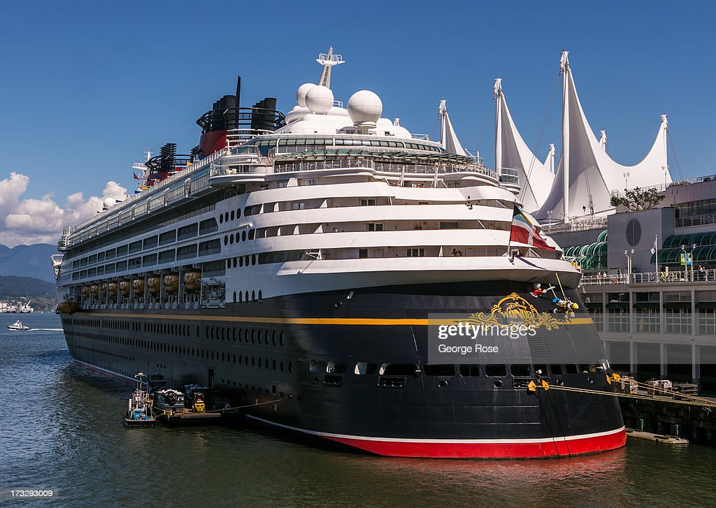 Disney's Wonder cruise ship is dock at Canada Place on June 3 2013 in Vancouver British Columbia Canada Vancouver is a seaport city with close...