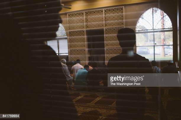 Displaced muslims pray at the ISGH Brand Lane Islamic Center in Stafford Texas on Thursday August 31 2017 John Taggart for The Washington Post via...