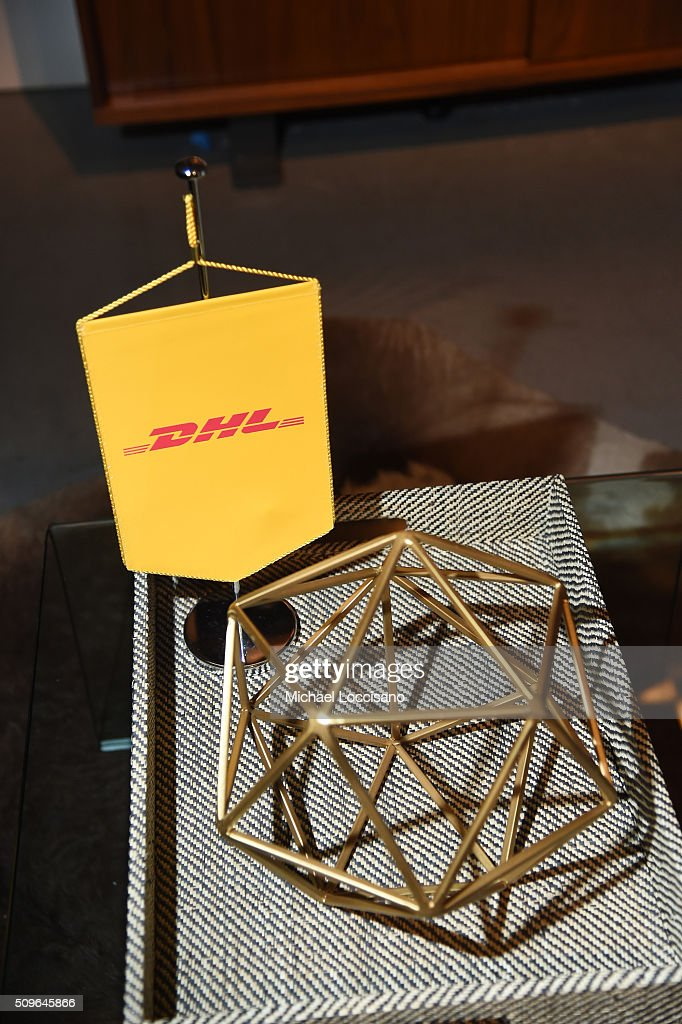 DHL display at 2016 New York Fashion Week at the Skylight at Clarkson sq on February 11, 2016 in New York City.