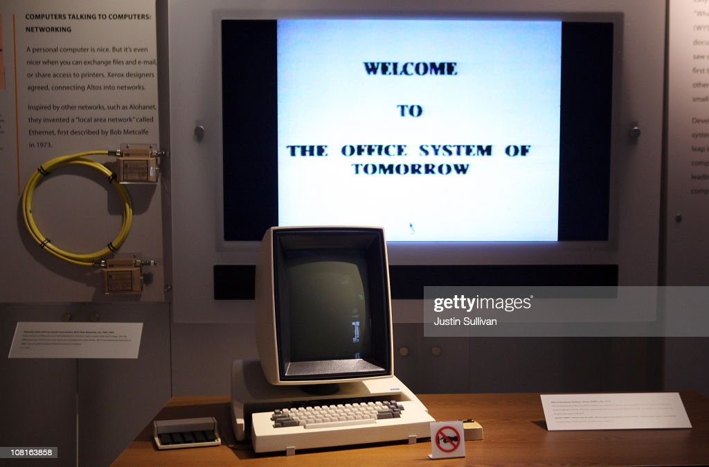 A display featuring the Xerox Alto personal computer is seen at the Computer History Museum on January 19, 2011 in Mountain View, California. After a two year, $19 million renovation, the Computer History Museum re-opened its doors with a new 25,000 square foot exhibit called Revolution: The First 2000 Years of Computing. The exhibit features over 1,000 artifacts and 100 multimedia stations that explores every major aspect of the history of computing, from the abacus to the smart phone, and every step in between.