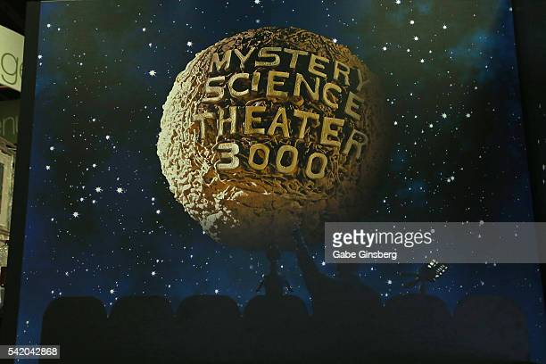 A display from the television series 'Mystery Science Theater 3000' is shown at the Licensing Expo 2016 at the Mandalay Bay Convention Center on June...