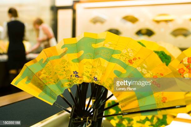 Display in Miyawaki folding fan shop.