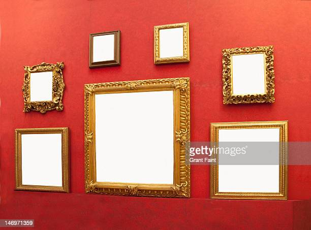 display of blank frames.