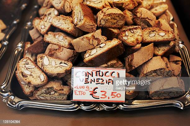 Display of Cantucci in shop window