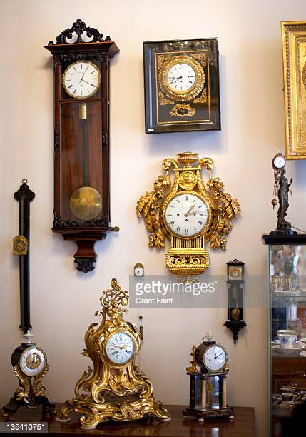 Display of clocks for sale.