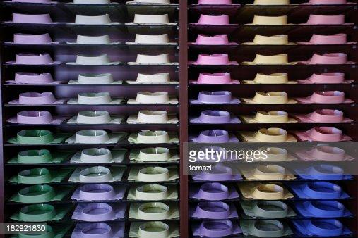 Display of colorfull shirts