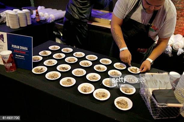 A display of food by Puran Dhaka by Chef Arturo Gomez at Street Eats hosted by Ayesha Curry and Michael Mina part of LOCAL presented by Delta Air...