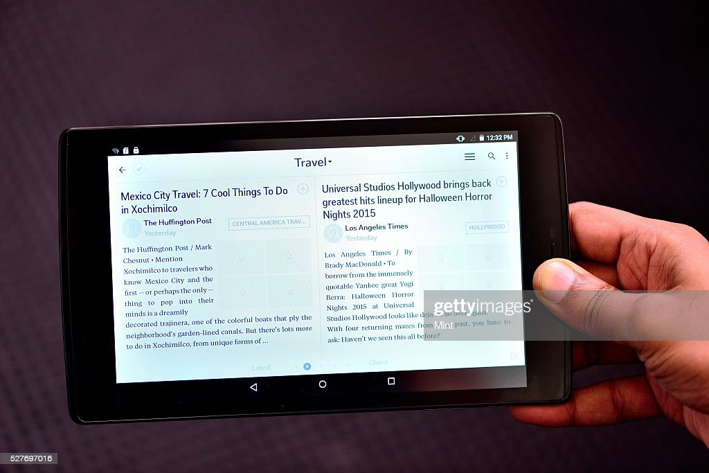 Display of Micromax Canvas Tab P680 on August 26, 2015 in New Delhi, India.