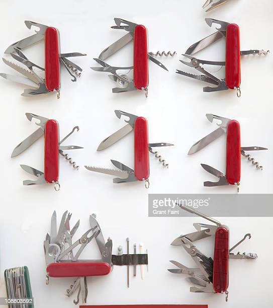 Display of pocket knifes.