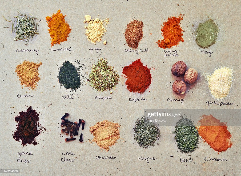 Display of spices : Stock Photo