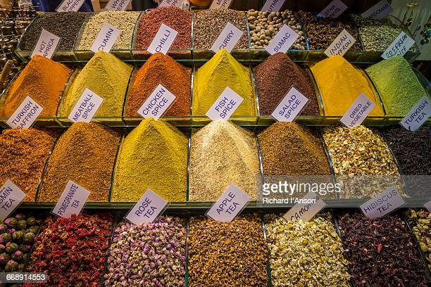 Display of spices & teas in the Spice Market