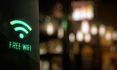 LED Display - Free wifi signage