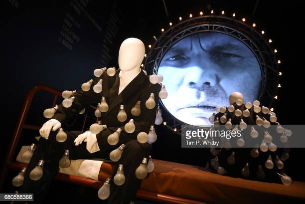 A display showing the mannequins dressed in a 'lightbulb suits' during a preview of the Pink Floyd Exhibition Their Mortal Remains at The VA on May 9...