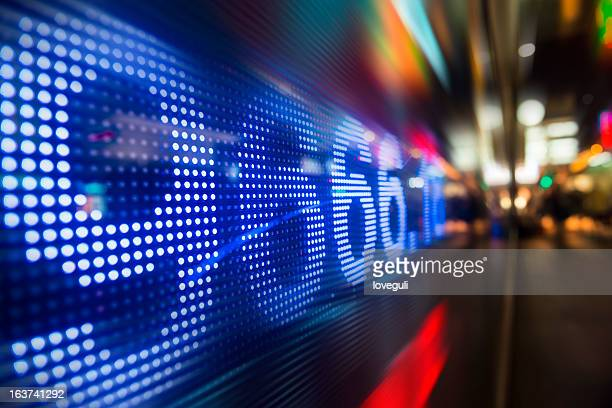 display stock information on LED screen