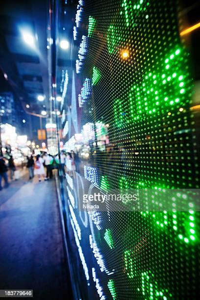Visualização de gráficos do mercado de stock