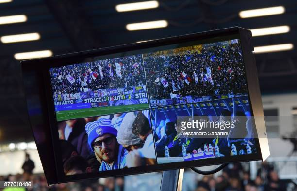 Display Var before the Serie A match between Spal and ACF Fiorentina at Stadio Paolo Mazza on November 19 2017 in Ferrara Italy