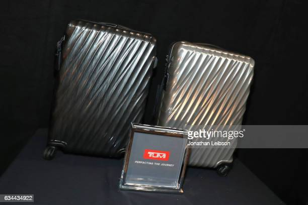 Displays and product are seen during the gift lounge at MusiCares Person of the Year honoring Tom Petty during the 59th GRAMMY Awards at Los Angeles...