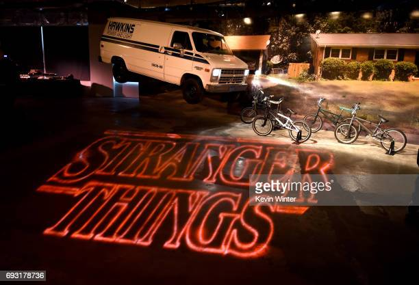 Displays and signage is seen during Netflix's 'Stranger Things' For Your Consideration event at Netflix FYSee Space on June 6 2017 in Beverly Hills...