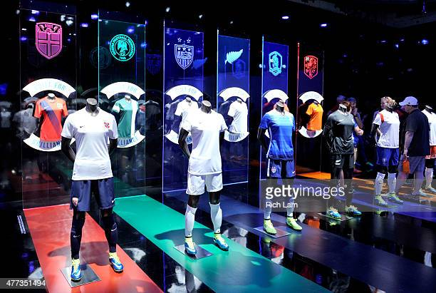 Displays are seen at The Nike Underground a popup experience in downtown Vancouver before the Group D match of the FIFA Women's World Cup Canada 2015...