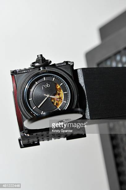 FOB displays their alternative Parisian watch designs during Paris Fashion Week Menswear Spring/Summer 2015 on June 25 2014 in Paris France