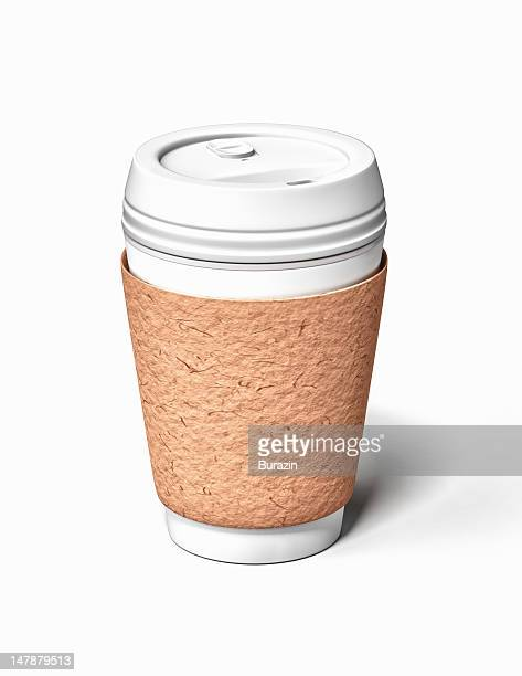 Disposable coffee container and sleeve