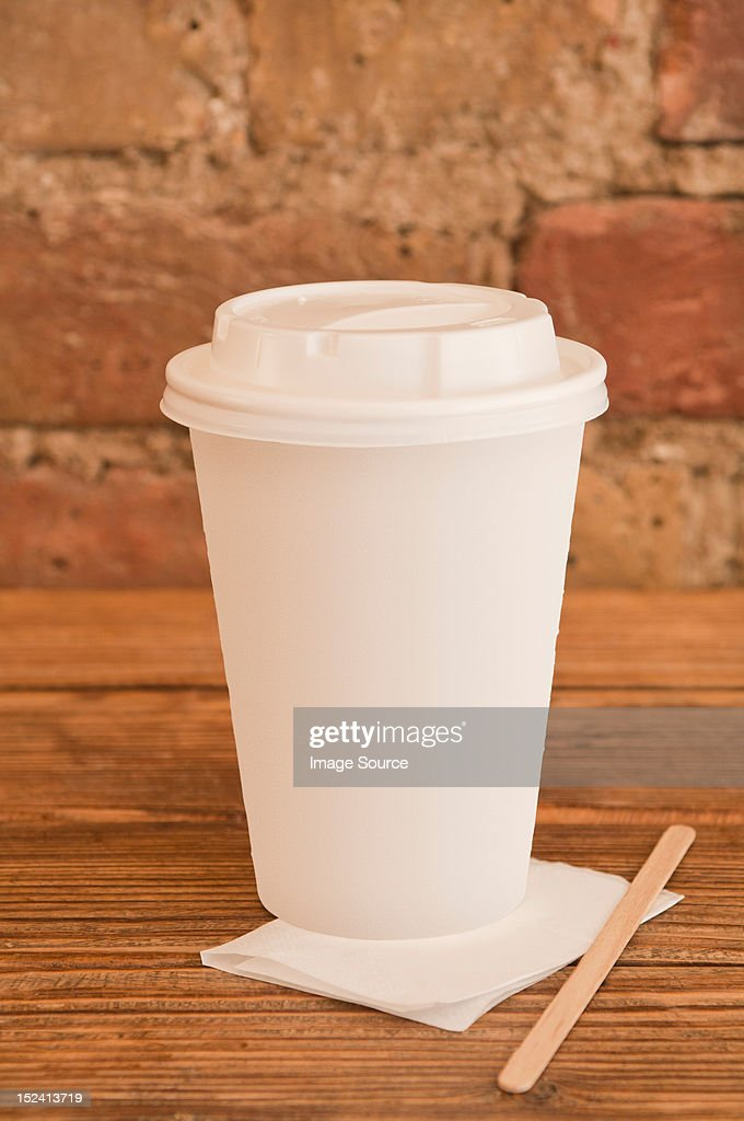 Disposable coffee cup : Stock Photo