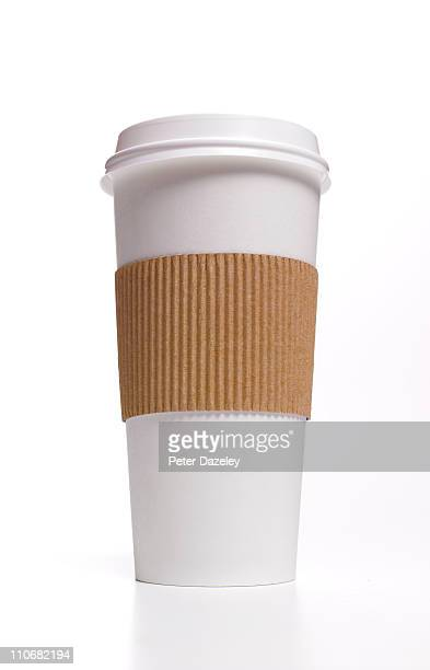 Disposable coffee cup with heat protector