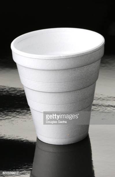 Disposable polystyrene foam hot beverage cup