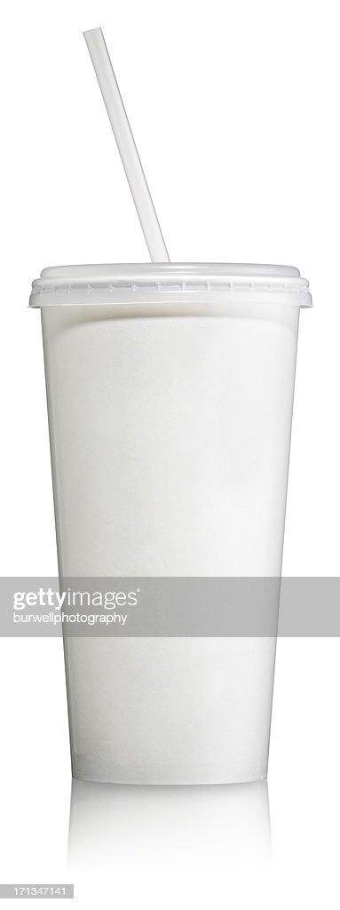 Disposable Soft Drink Cup with lid : Stock Photo