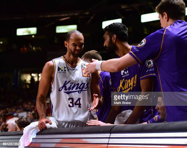 Dissapointed Perry Ellis during the round three NBL match between the Adelaide 36ers and the Sydney Kings at Titanium Security Arena on October 21...