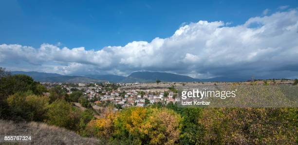 Distant and panoramic view of Safranbolu topwn, Karabuk, Turkey