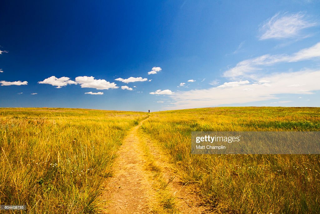 Distant Figure on Wide Open Prarie