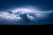 Storms formed late over the northern plains on that day, but when they did, they continued the whole night.