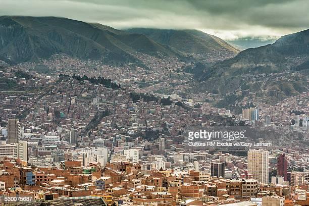 Distant view of La Paz, Bolivia, South America