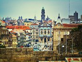 Distant View Of Porto City Hall In City Against Sky