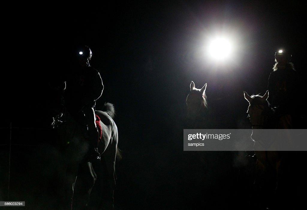 Distanzreiten Start bei Nacht