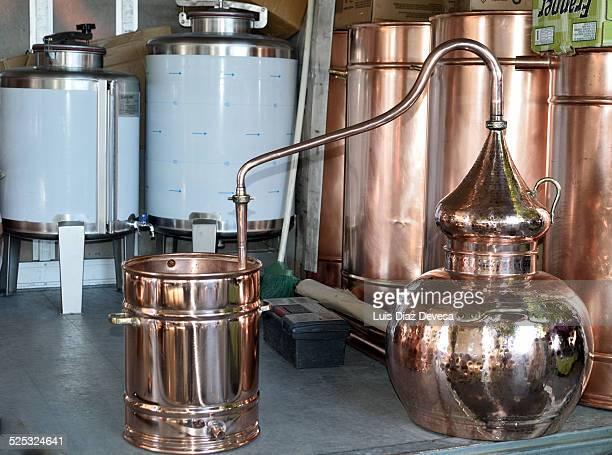 Distillery of arguardiente in Galicia