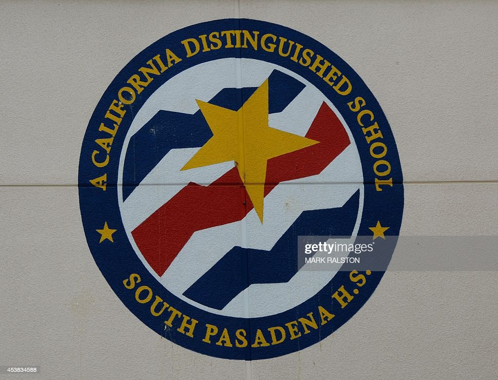 A distinguished school award at the South Pasadena High School after two students were arrested on suspicion of plotting a mass shooting at the high...